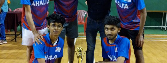 ASET Badminton Team Wins Second Runner Up Position In KTU Interzone Tournament