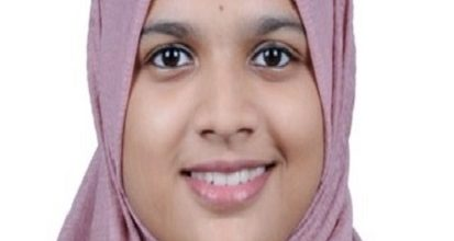 Aysha Thahsin Z. Has Secured Fifth Rank In KTU