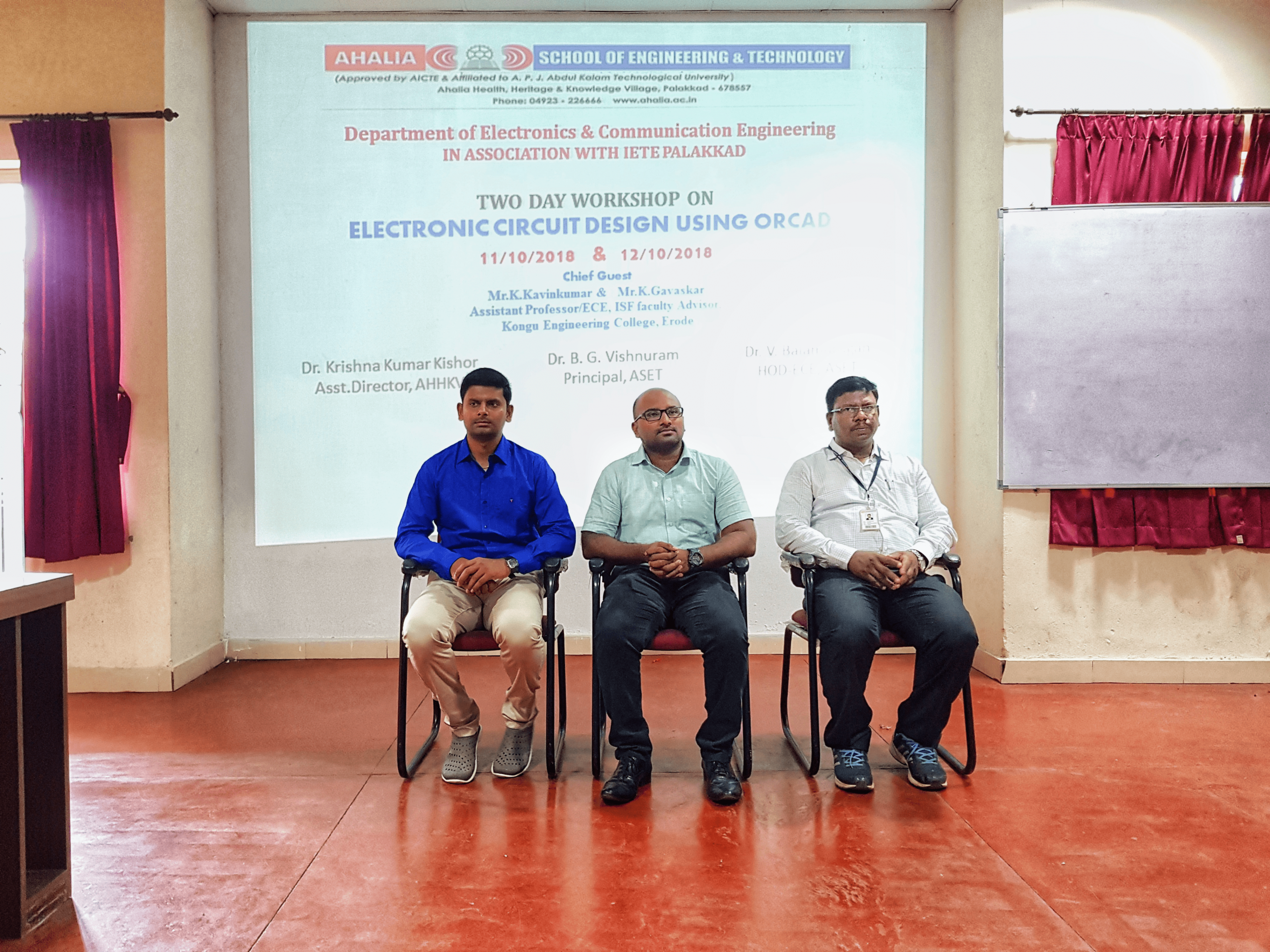 ECE Association Inauguration And Two Days Workshop On Electronic Circuit Design Using Orcad
