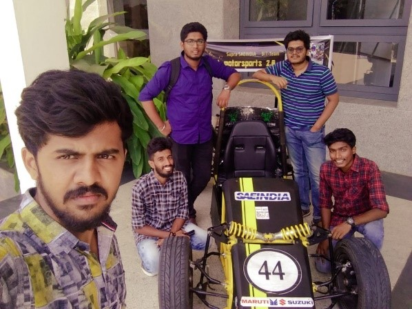 Mechanical Students participate in National Level SAE event