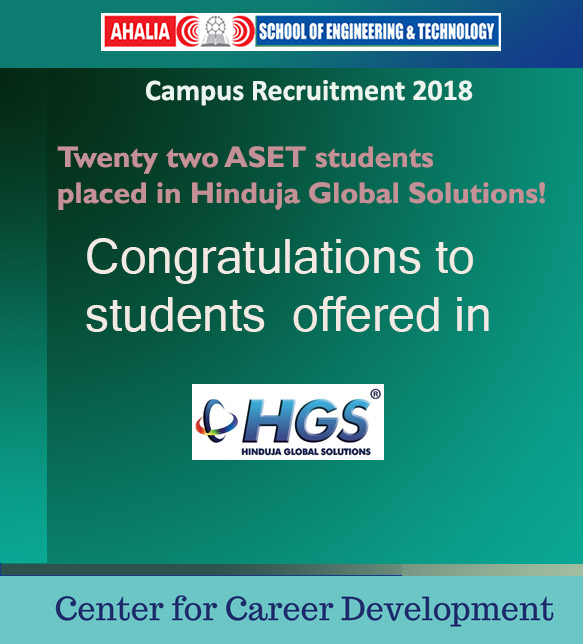 Hinduja Global Services, Bangalore Conducts Campus Placement At ASET
