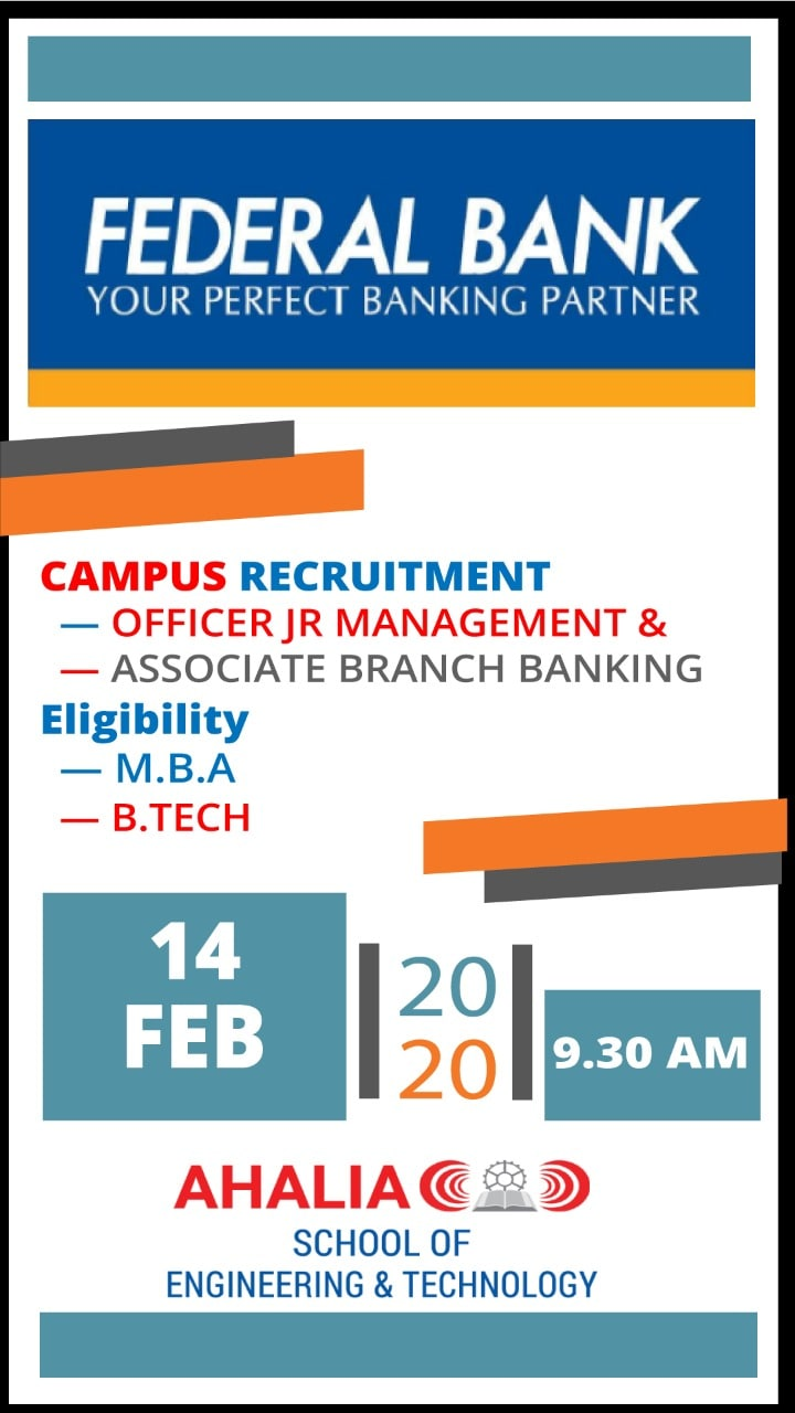 Placement Drive by Federal Bank