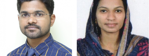 Anand E. K. and Shamna A. placed in Ahalia Group