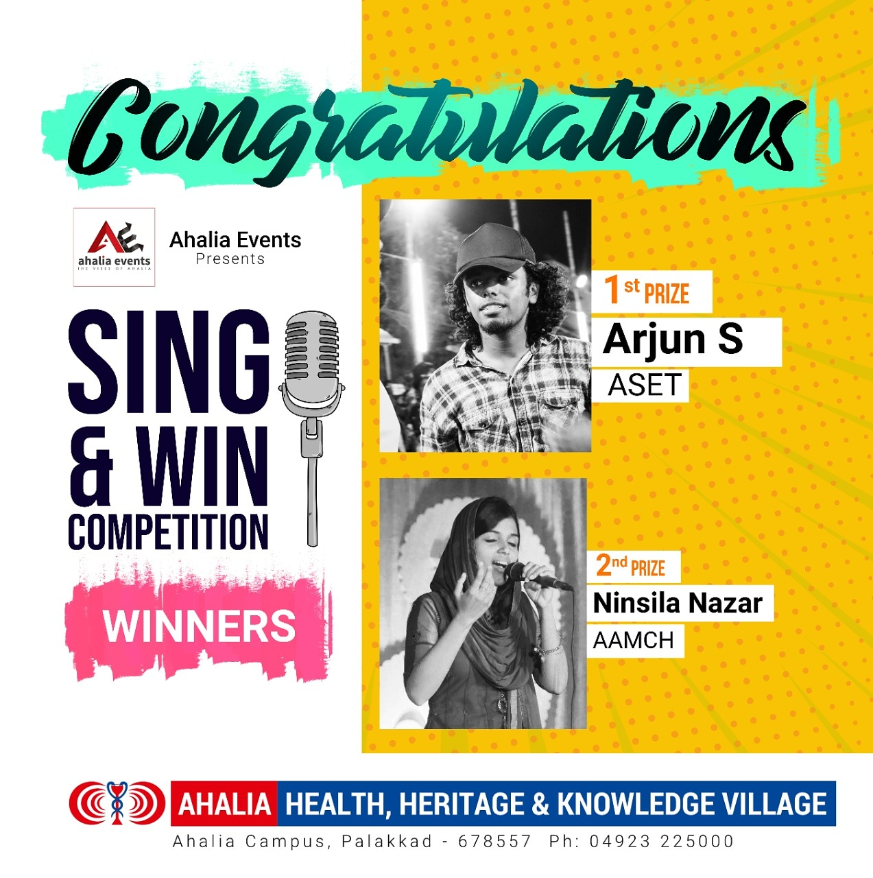 Arjun S. Wins Sing & Win Competition