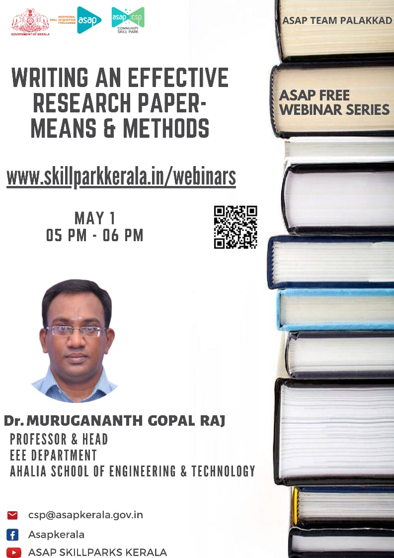 Webinar on 'Writing An Effective Research Paper'