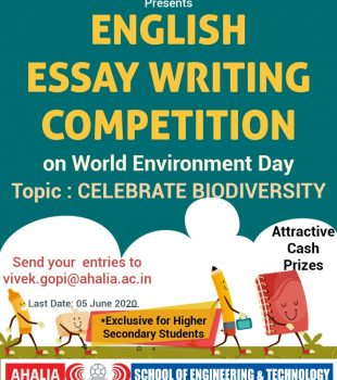 English Essay Writing Competition by Mech. Dept.