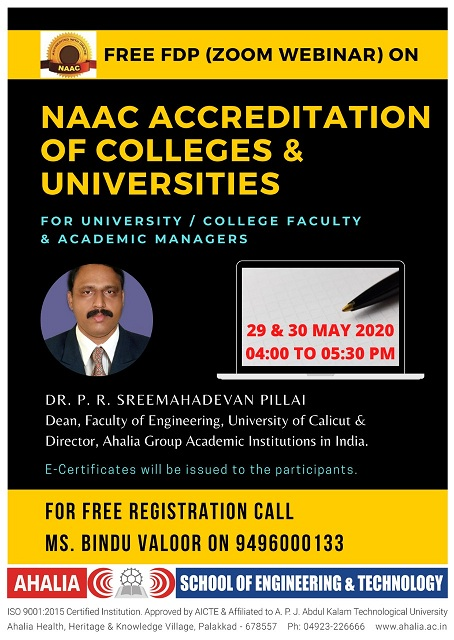 FDP on NAAC Accreditation of Colleges and Universities
