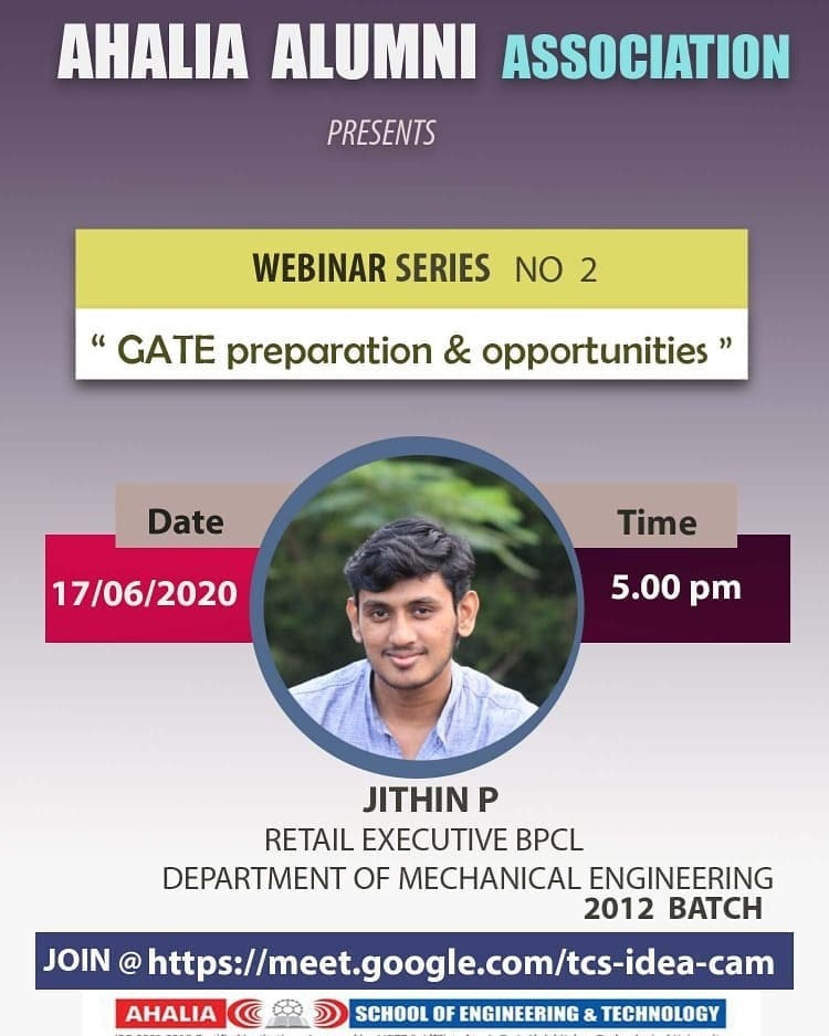 Alumni Webinar on GATE Preparation and Opportunities