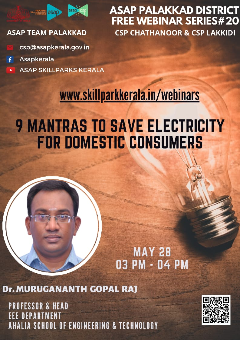 Webinar on 9 Mantras To Save Electricity For Domestic Consumers