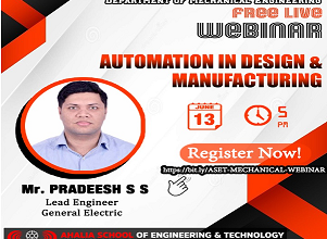 Webinar on Automation in Design and Manufacturing