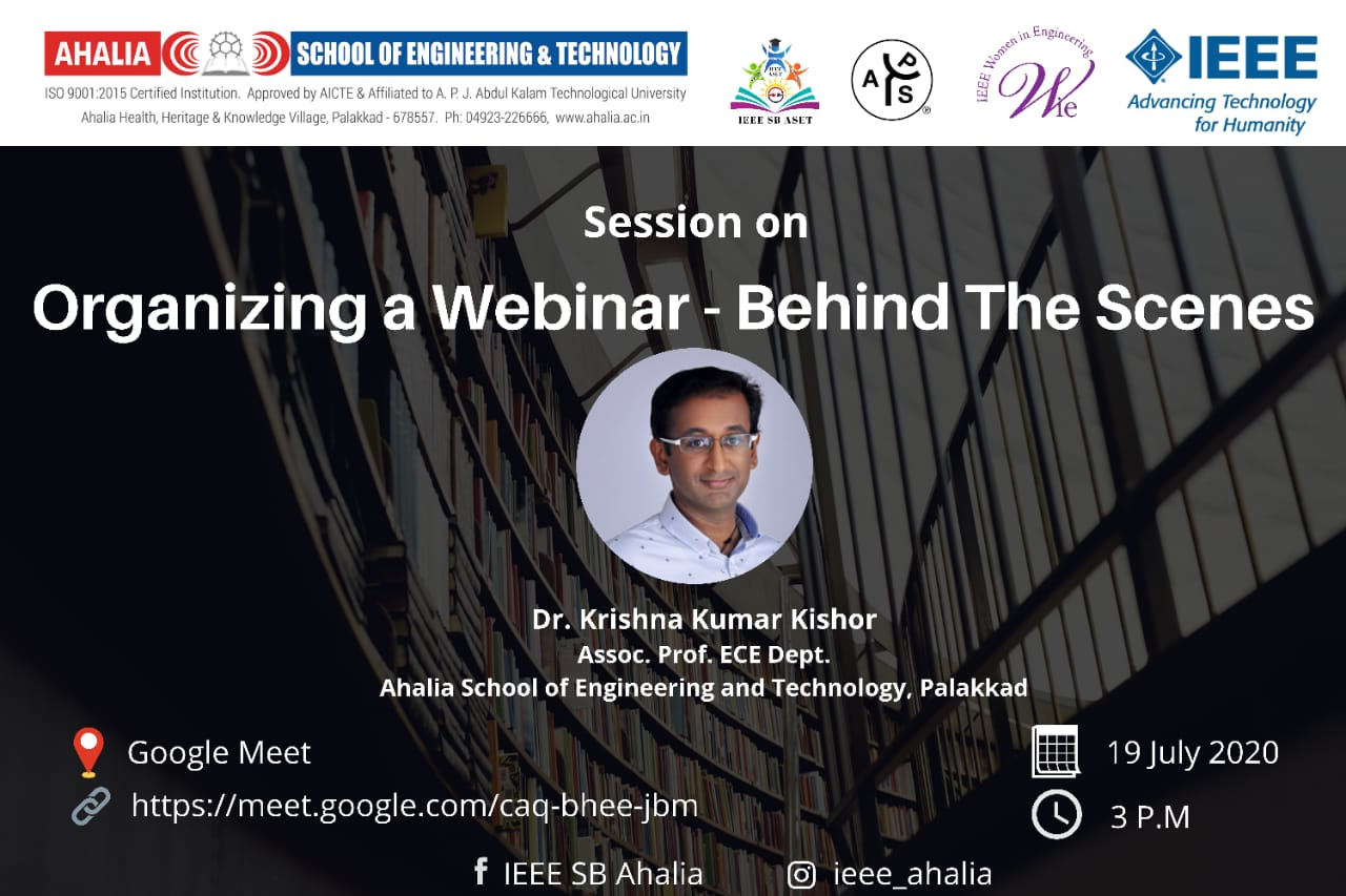 Session on 'Organizing a Webinar – Behind the Scenes'