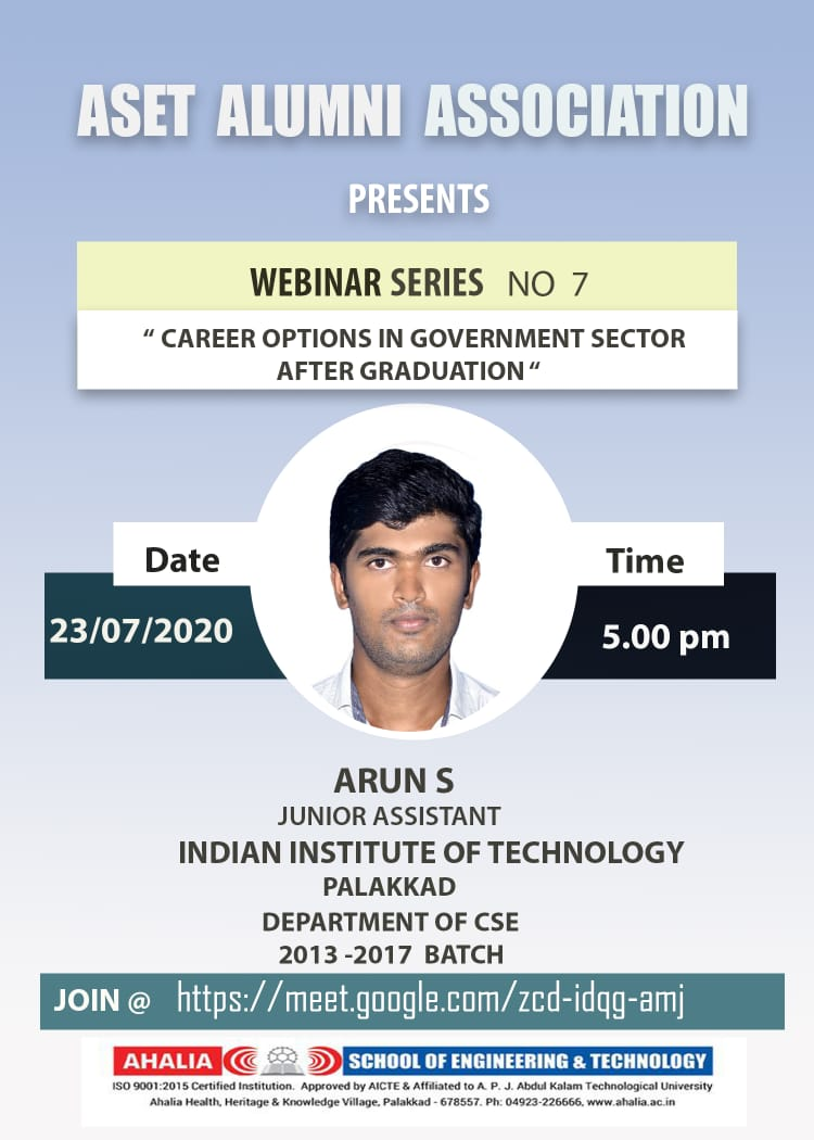 Webinar on Career Options in Govt. Sector After Graduation