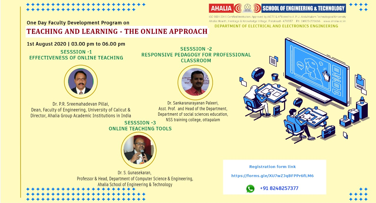 FDP on 'Teaching and Learning – The Online Approach'