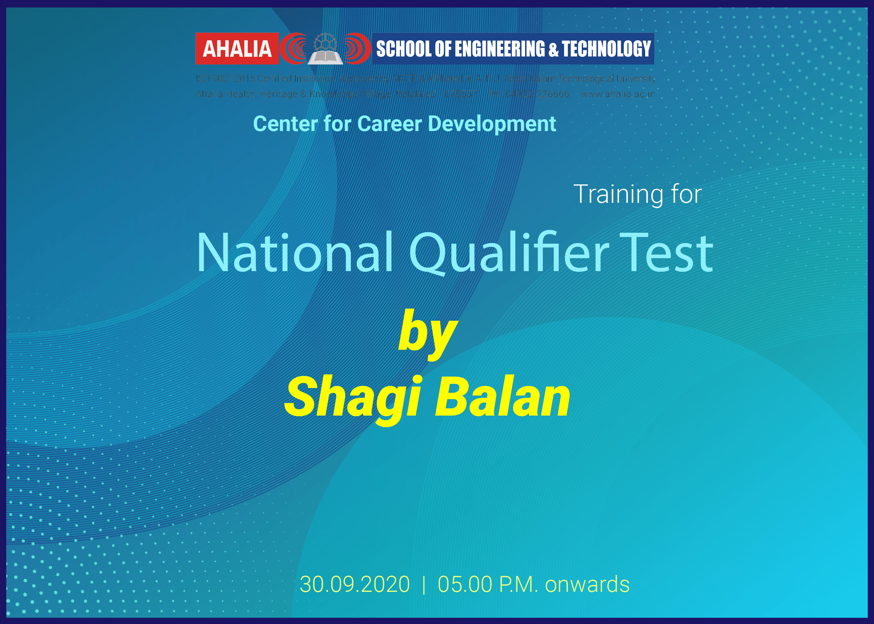 Webinar on Quantitative Aptitude for National Qualifier Test