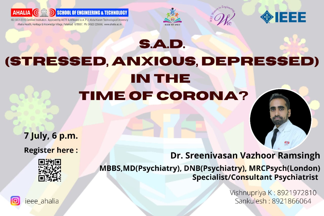 Webinar on S.A.D. in the time of Corona?