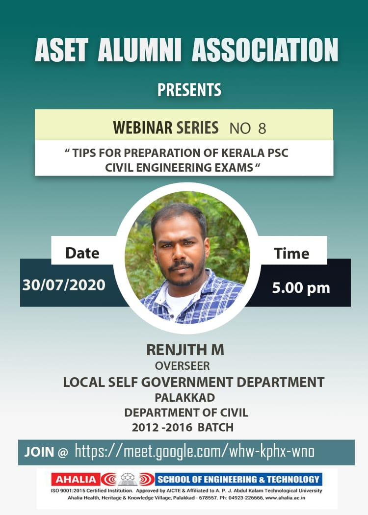 Webinar on 'Tips for Preparation of Kerala PSC Civil Engineering Exams'