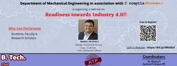 Webinar on 'Readiness towards Industry 4.0'