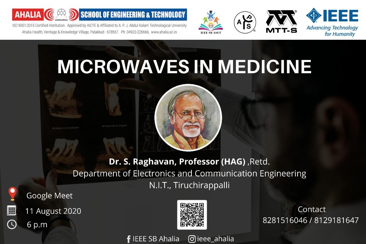 Webinar on 'Microwaves in Medicine'