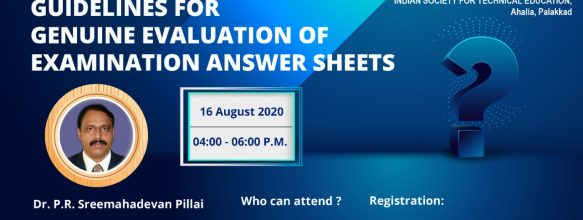 One day FDP on 'Guidelines For Genuine Evaluation of Examination Answer Sheets'