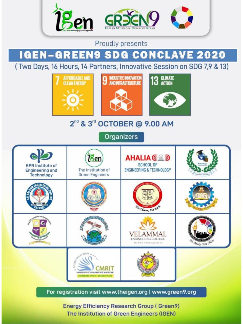IGEN – Green9 SDG Conclave 2020