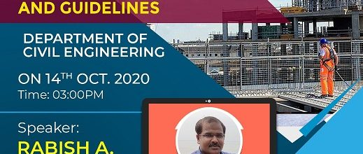 Webinar on 'Construction Practices and Guidelines'