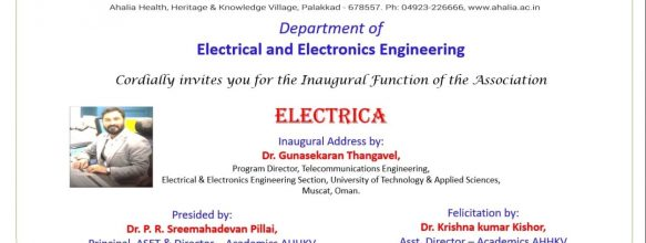 Association Inauguration of Department of EEE