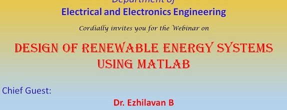 Webinar on 'Design of Renewable Energy Systems Using MATLAB'