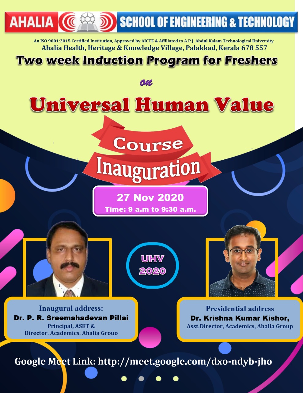 First Year Induction Program