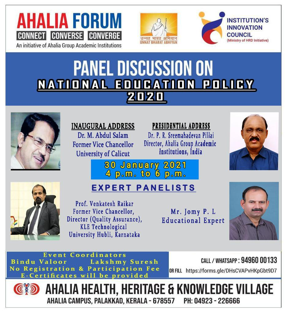 Panel Discussion on 'National Education Policy – 2020'
