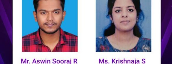 Aswin Sooraj R. and Krishnaja S. Join Ahalia Group