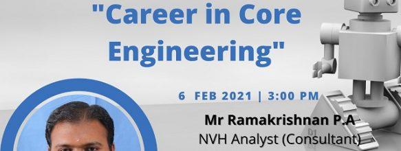 Webinar on 'Career in Core Engineering'