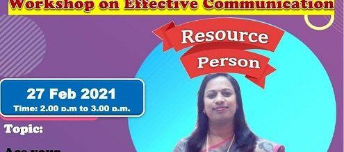 Workshop on 'Effective Communication'