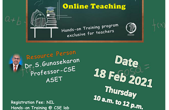 Hands-on Training on 'Video Tools for Teaching'