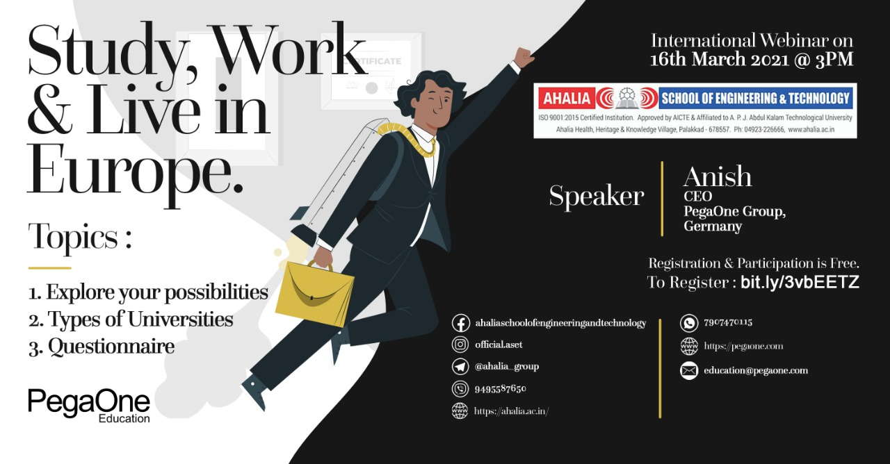 Webinar on 'Study, Work and Live in Europe'