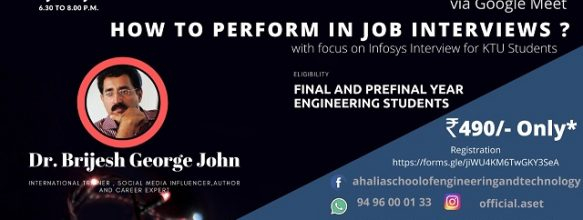 Webinar on 'How to Perform in Job Interviews'