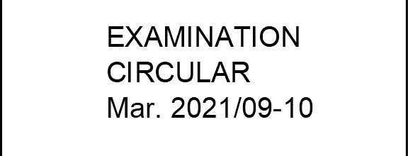 Seating Plan – KTU Exams 10 Mar. 2021