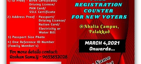 Free Registration Counter for New Voters