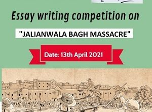 Online Essay Writing Competition on 'Jalianwala Bagh Massacre'