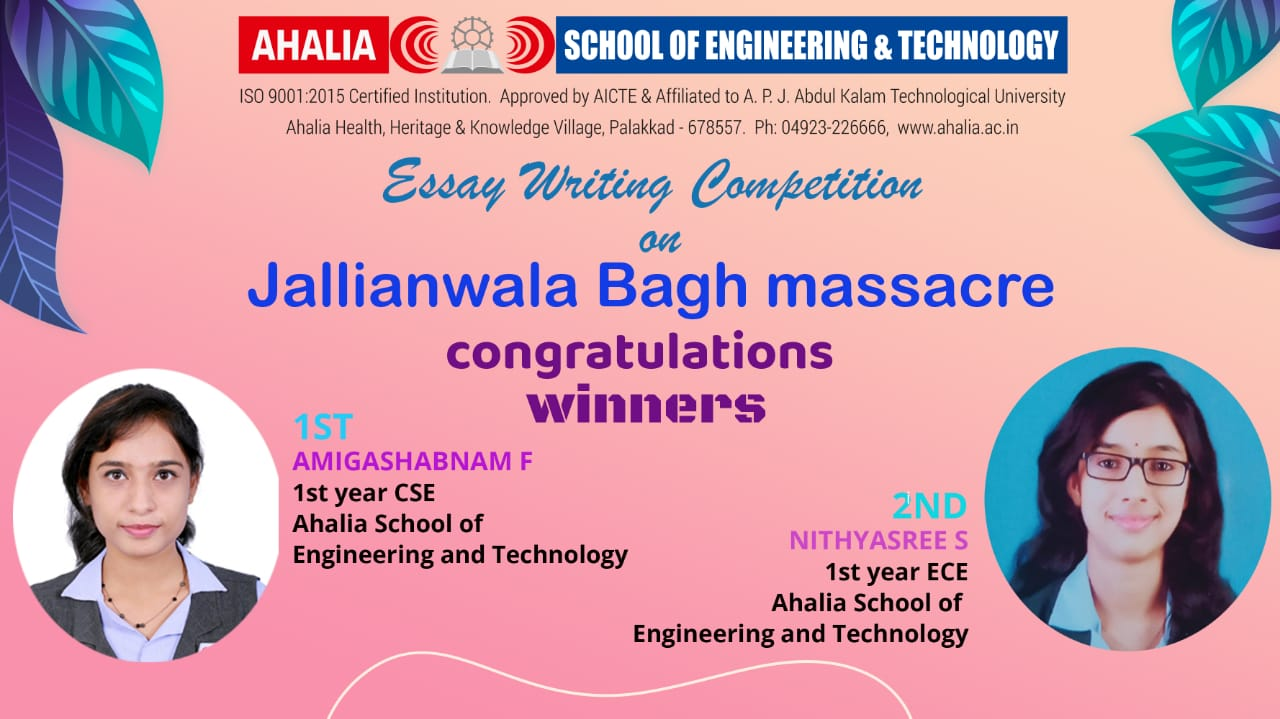 Online Essay Writing Competition on 'Jalianwala Bagh Massacre'