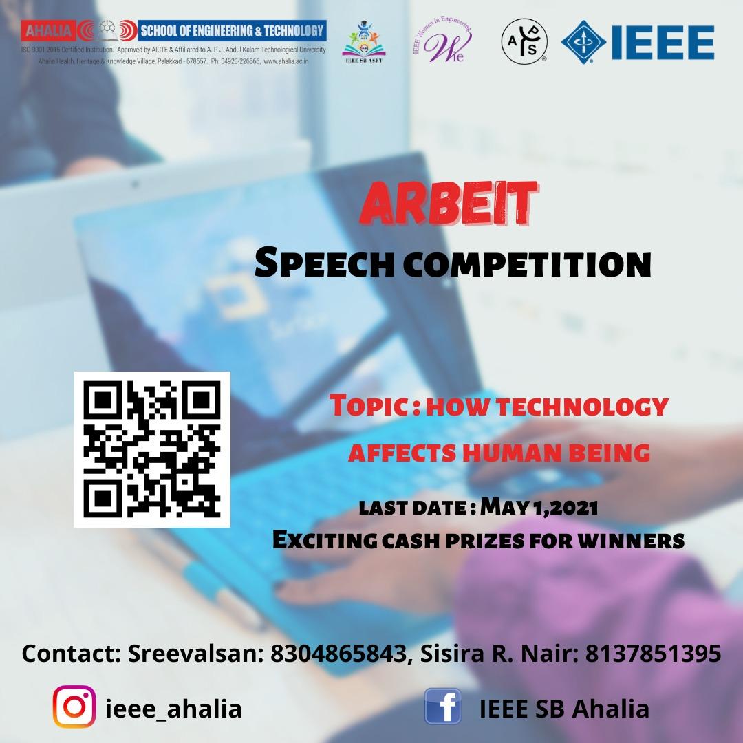 Online Speech Competition – 'ARBEIT'