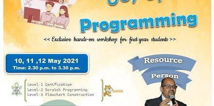 Three Day Workshop on 'Joy of Programming'