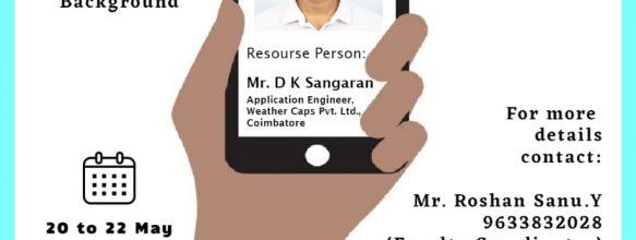Internship Program on 'Configure Your Smartphone Sensors : Do it Yourself'