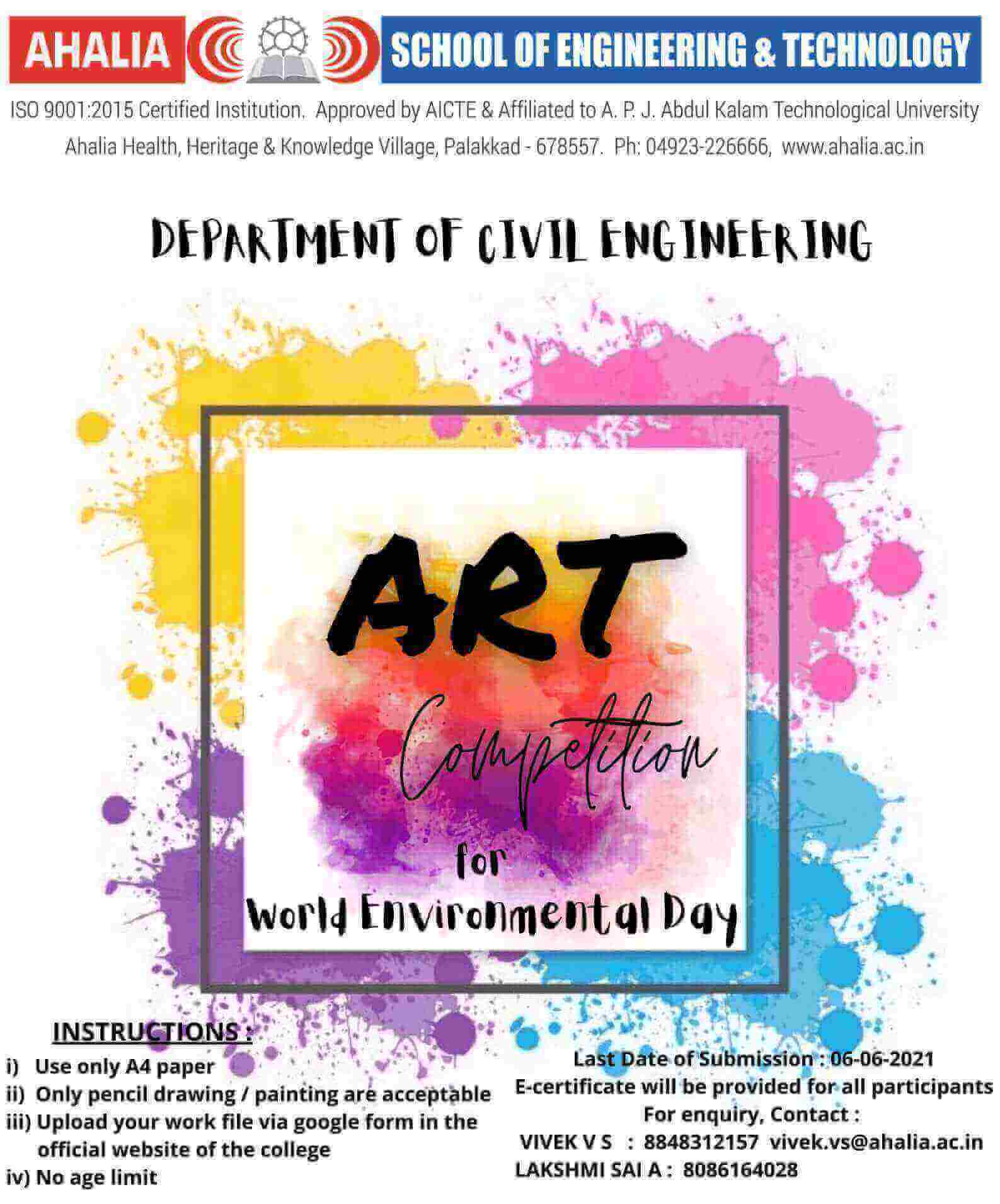 Art Competition for World Environmental Day
