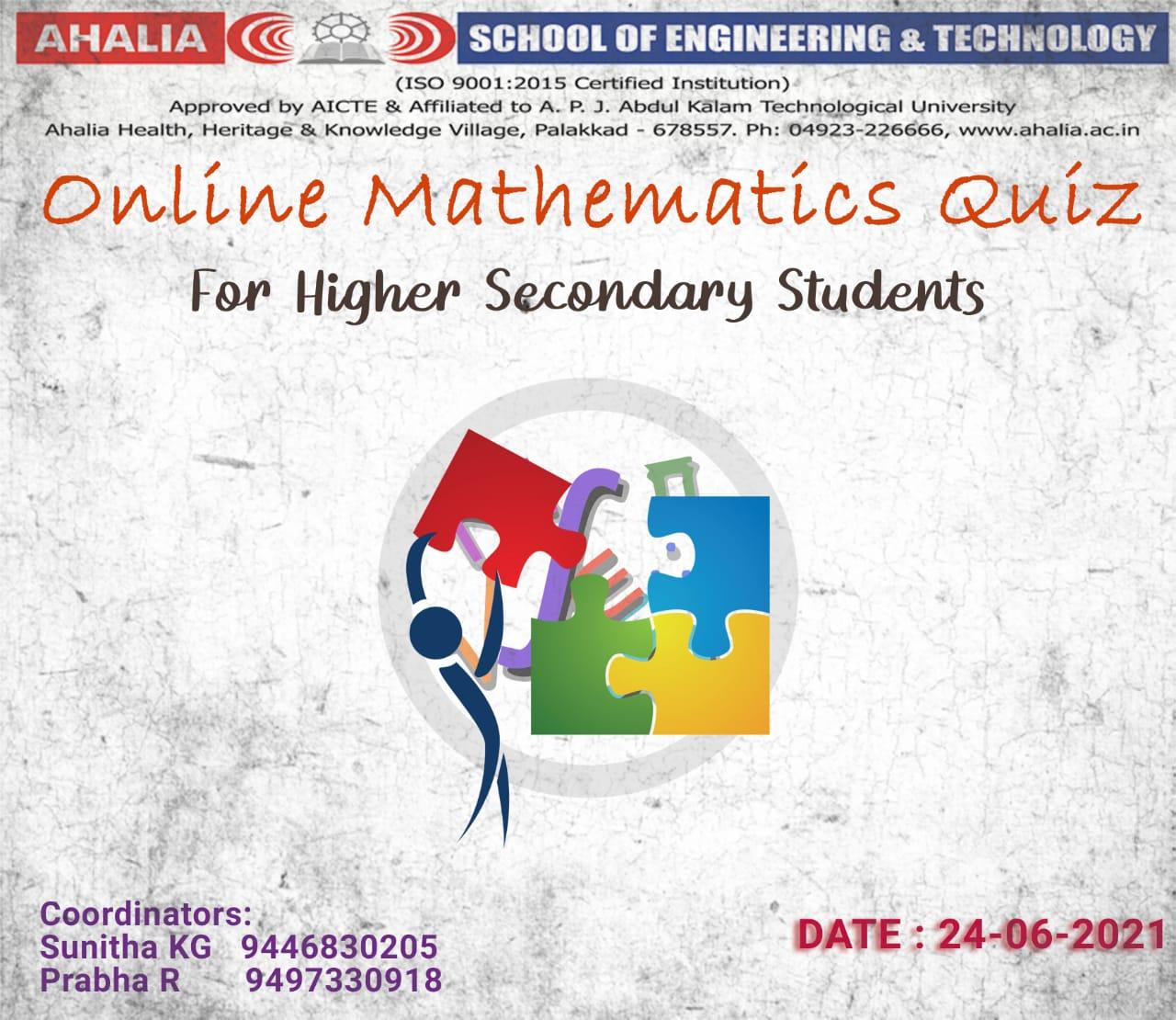 Online Mathematics Quiz