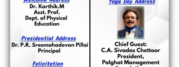International Yoga Day Celebration 2021