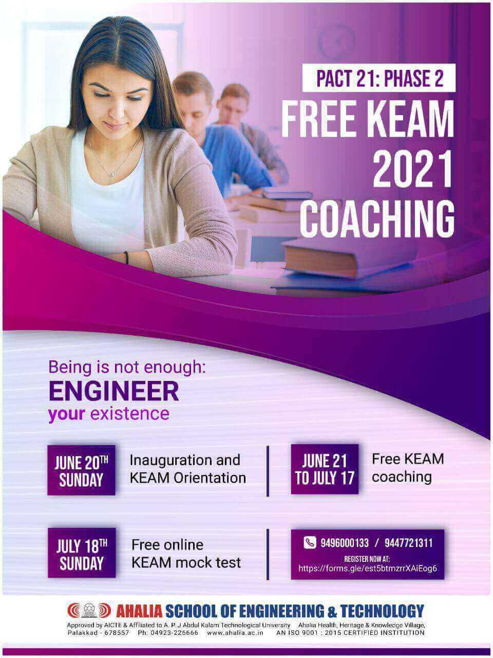 KEAM Coaching 2021