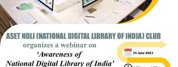 Webinar on 'Awareness of National Digital Library of India'