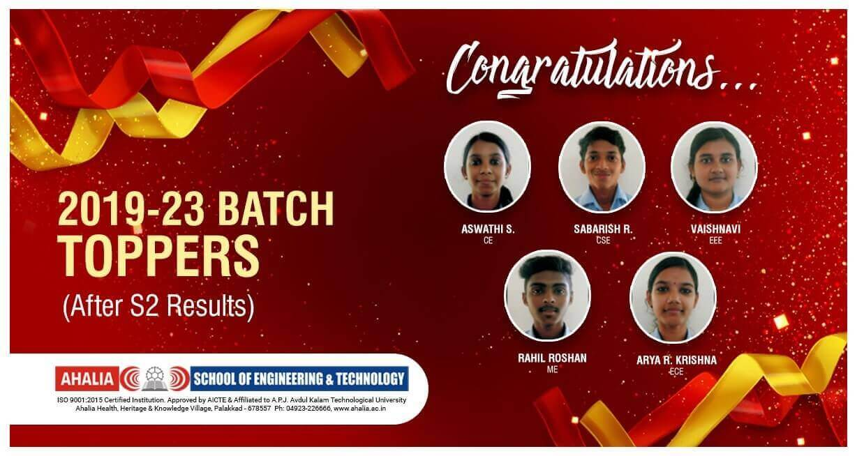 2019 – 2023 Batch Toppers