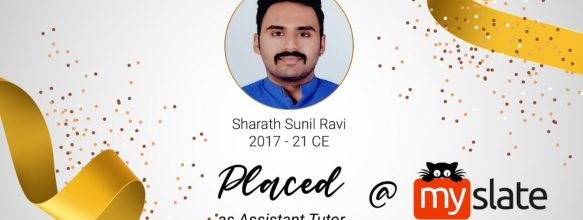 Sharath Sunil Ravi Placed in MySlate