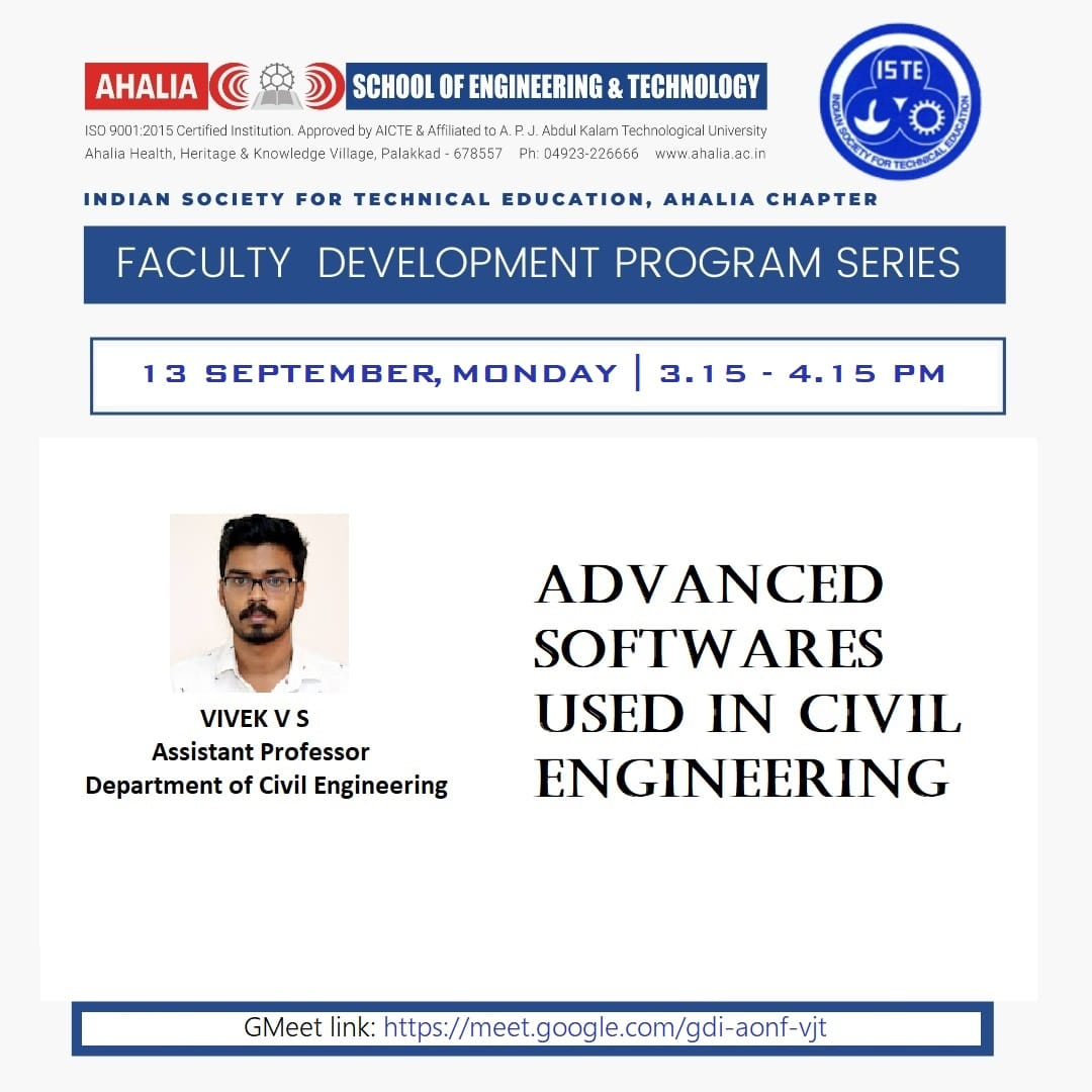 FDP on 'Advanced Softwares Used In Civil Engineering'